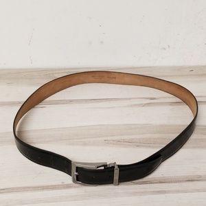 Dolce & Gabbana Black Leather 38 Inch Belt